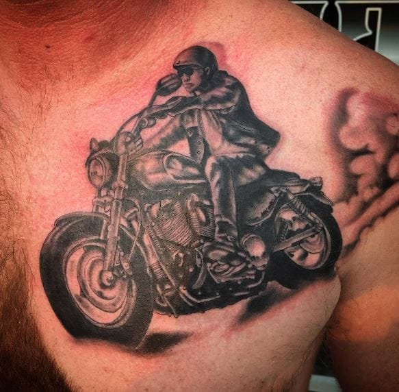 50 Cool Biker Tattoos Ideas For Men And Women 2018