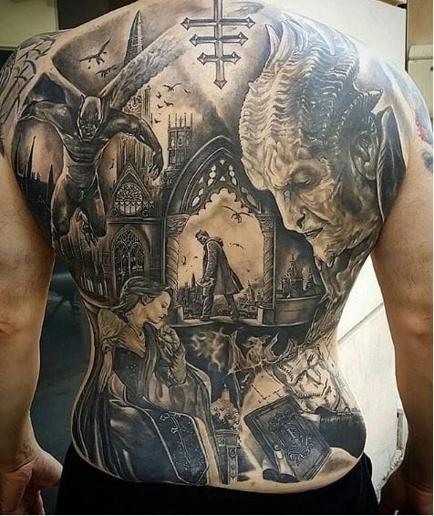 Tattoo Ideas On Back: 50 Best Full Back Tattoos Designs And Ideas (2018
