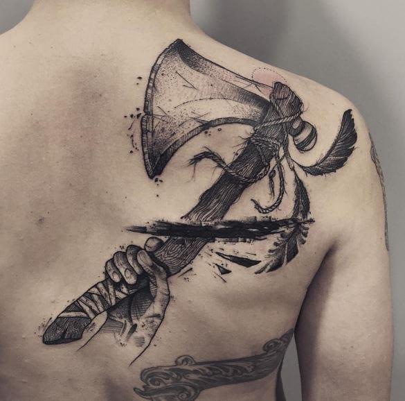 50+ Best BlackWork Tattoos for Men (2019) Unique Designs