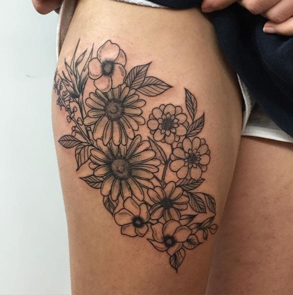 a6694ad5fd3aa 50+ Simple Floral Tattoos For Guys (2019) – Small & Realistic Designs