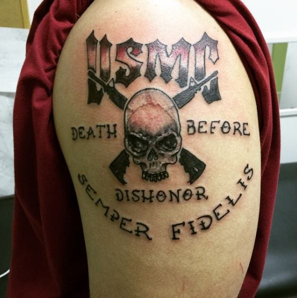 50+ United States Marine Corps Tattoos (2019) - USMC Designs