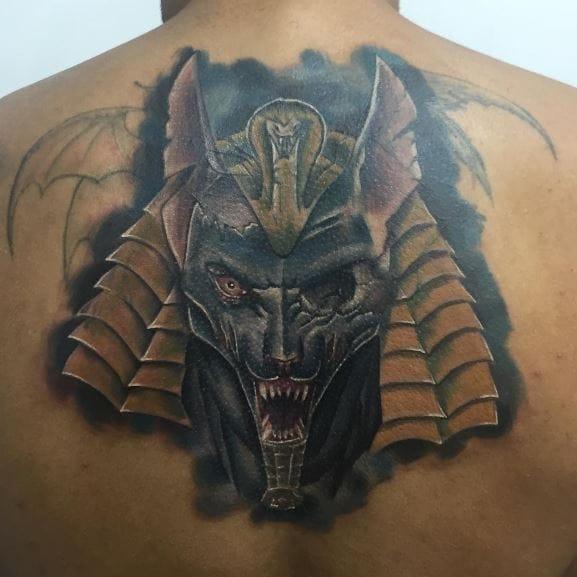 734b9f230 110+ Egyptian Anubis Tattoos For Men (2019)Tribal Designs | Tattoo Ideas