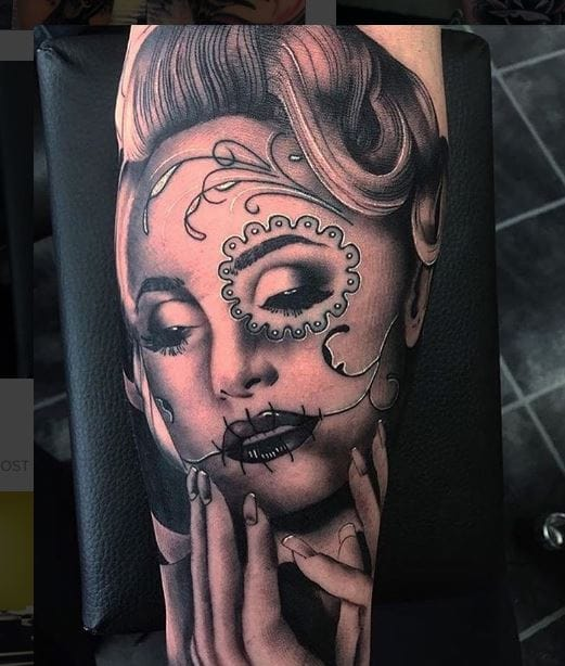 50+ Best Day Of The Dead Tattoos For Girls (2019