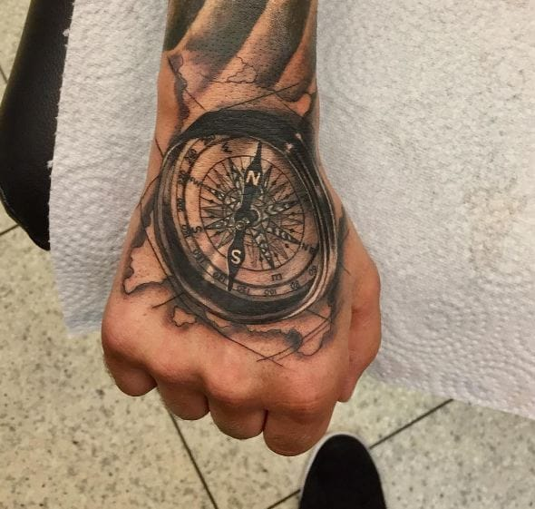 50 Compass Tattoos For Men 2019 Designs Meanings Tattoo