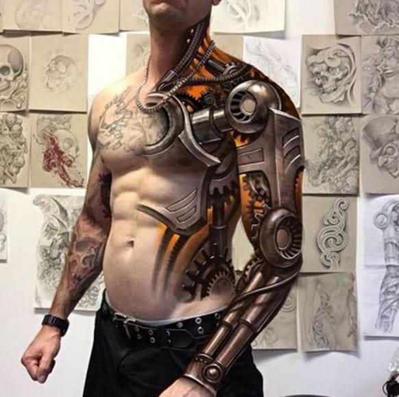 6b7e93ee8 155+ Best 3D Tattoos Designs for Men & Women (2018) | TattoosBoyGirl