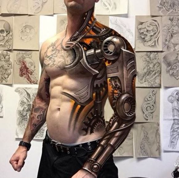 3d tattoos robot