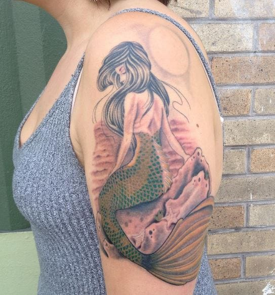 3ed4d9be9 100+ Beautiful Mermaid Tattoos For Females (2018) | Tattoo Ideas