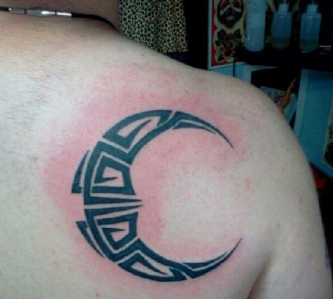 Tribal Moon Tattoo