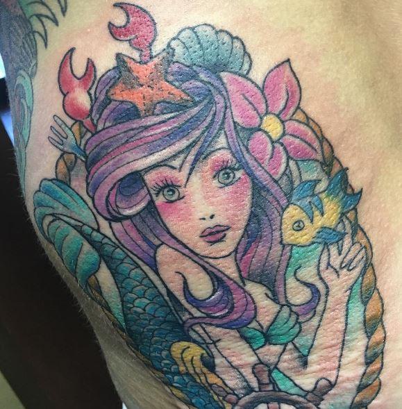 Mermaid Tattoo On Arm 17