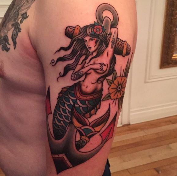 Mermaid Tattoo On Arm 33