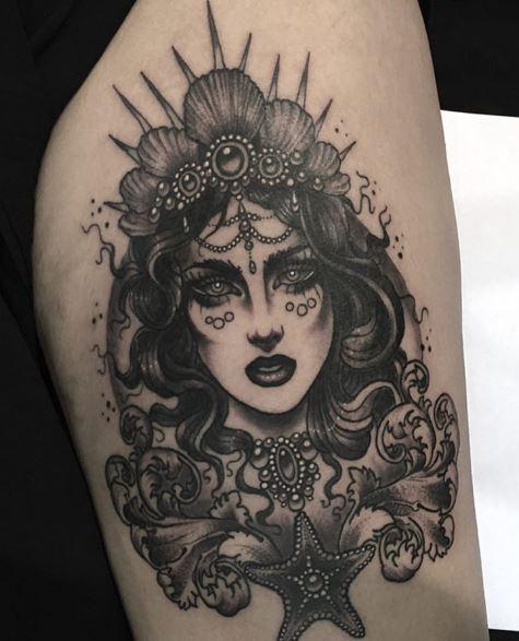 Mermaid Tattoo On Arm 34