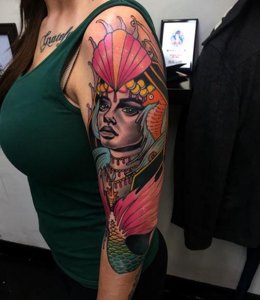 Mermaid Tattoo On Arm 35