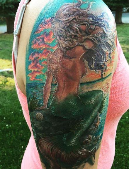 Mermaid Tattoo On Arm 37