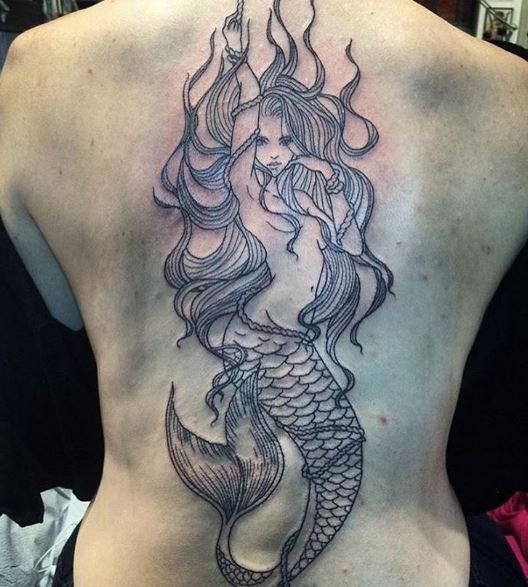 Mermaid Tattoo On Body 6