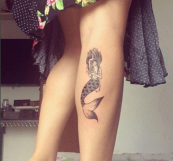 Mermaid Tattoo On Leg 1