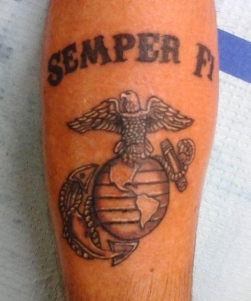 Semper tattoo fi design Tattoo Policy