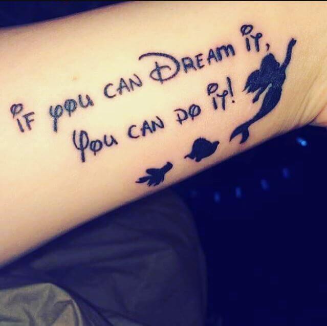 Little Mermaid Quote Tattoos