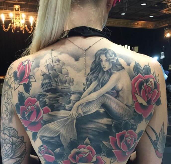 Mermaid Back Tattoos