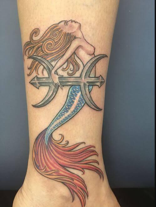 Pisces Mermaid Tattoos