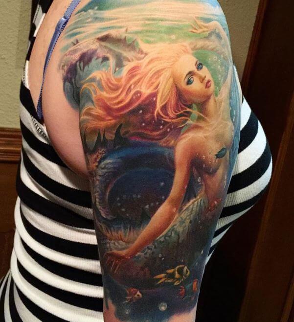 Realistic Mermaid Tattoos