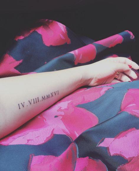 Date Tattoos On Arm