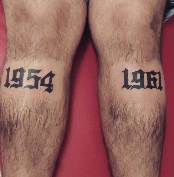 Date Tattoos On Calf