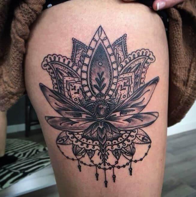 Floral Mandala Tattoo