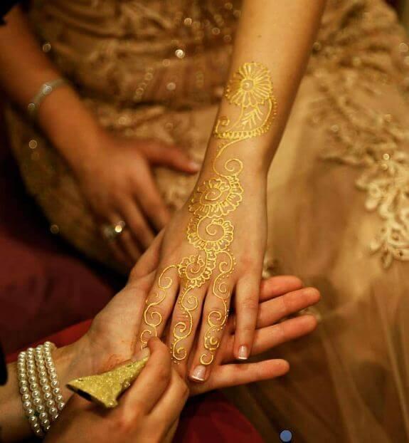 Gold Henna Tattoos
