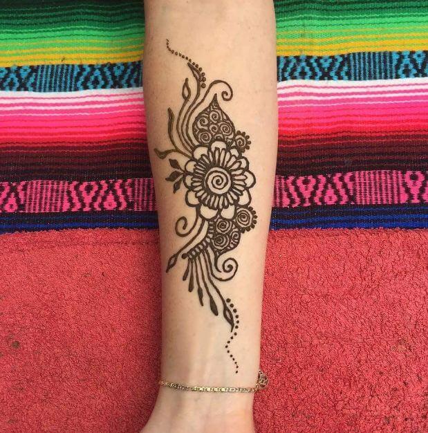 Henna Arm Tattoo