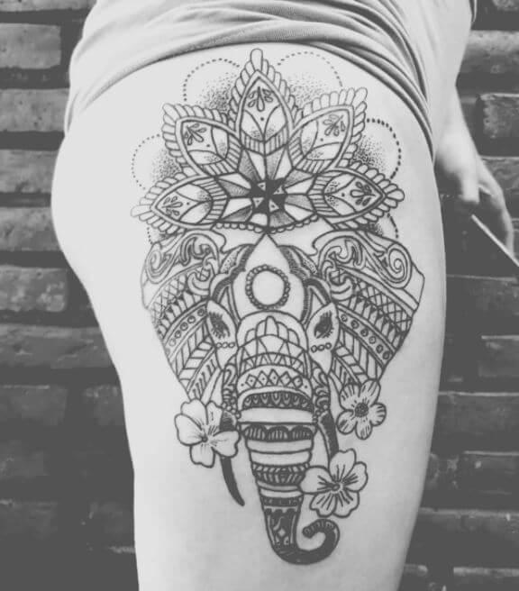Mandala Animal Tattoo