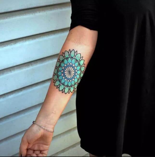 Mandala Cuff Tattoo