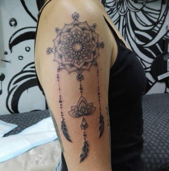 Mandala Dreamcatcher Tattoo