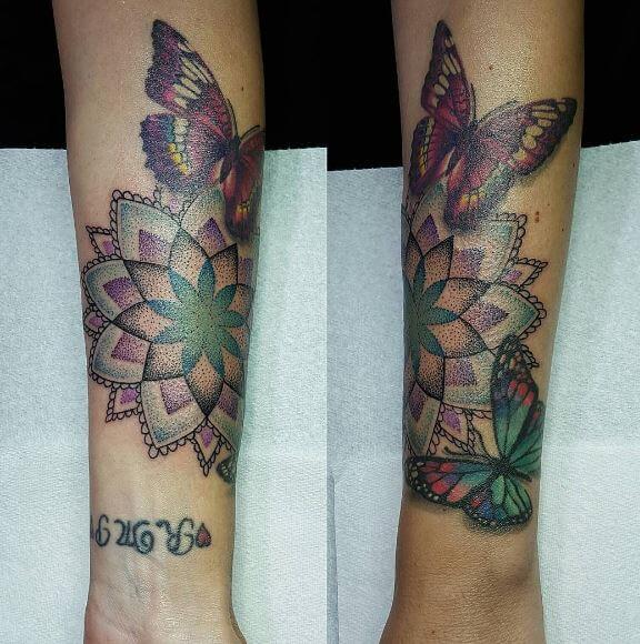 Mandala Tattoo Color