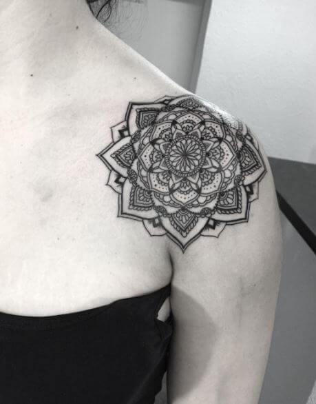 Mandala Tattoo Shoulder