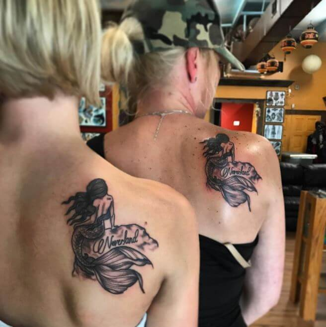 Mother Daughter Back Tattoos
