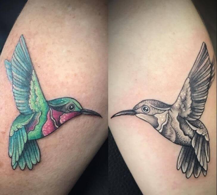 Mother Daughter Bird Tattoo