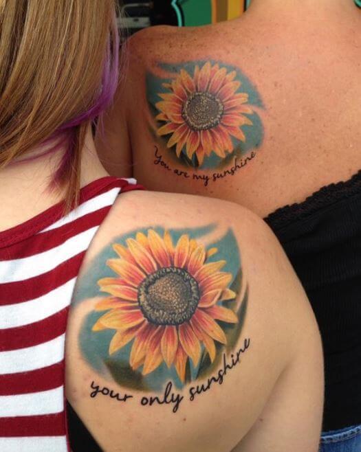 Mother Daughter Flower Tattoo