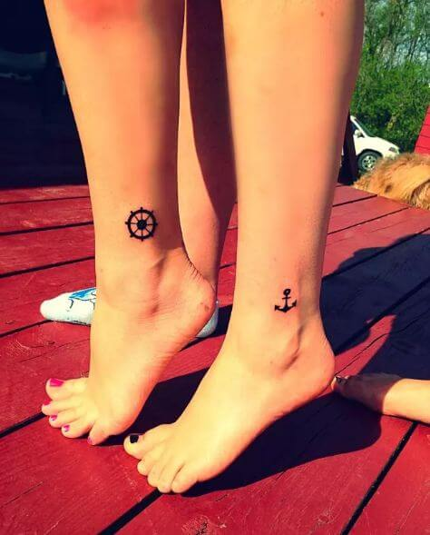Mother Daughter Foot Tattoo