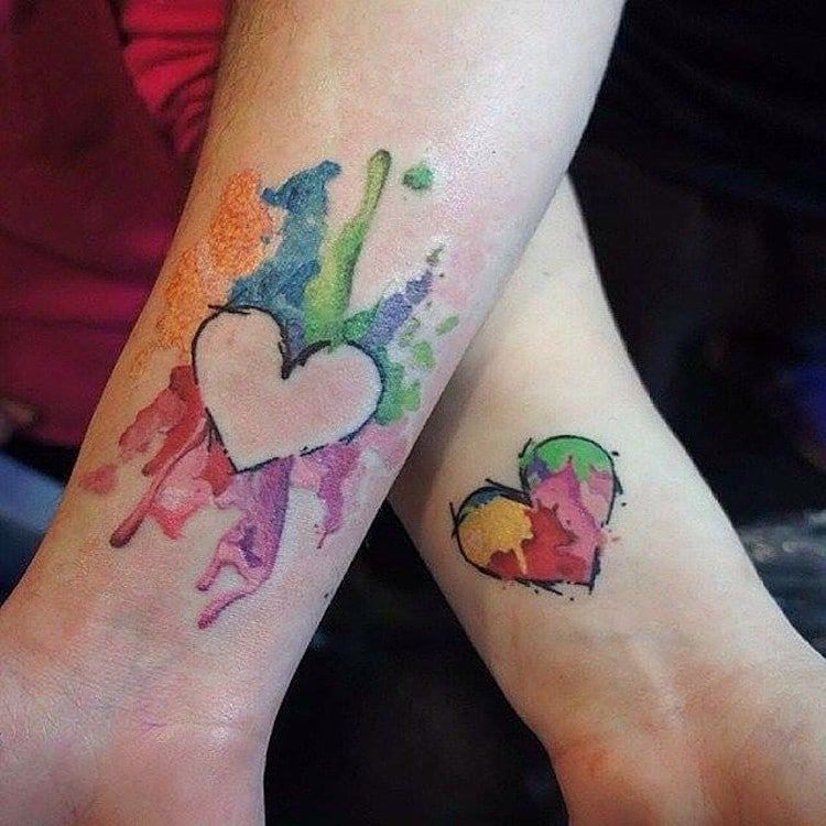 Mother Daughter Son Tattoo (7)