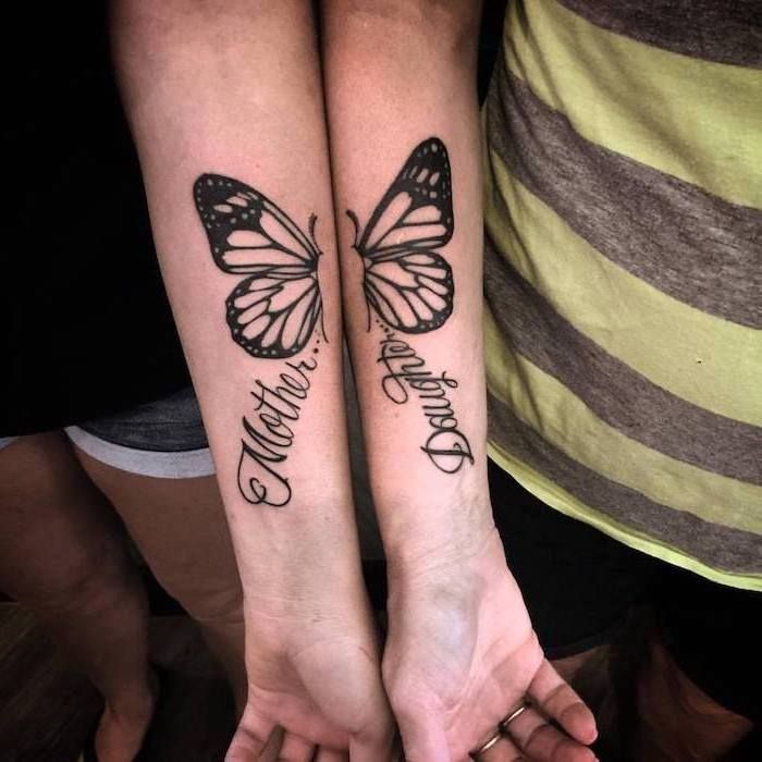 Small Matching Tattoo For Mother And Daughter (3)