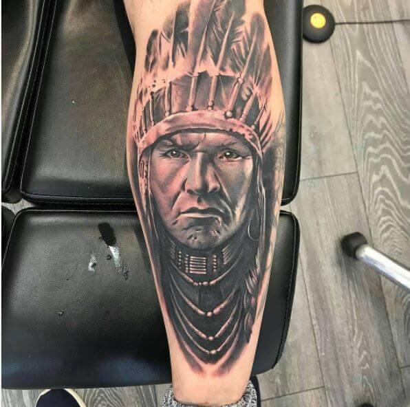 Native American Chief Tattoo
