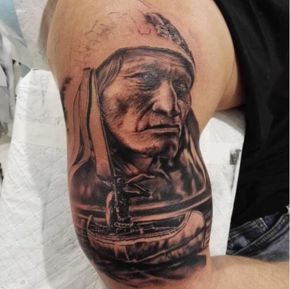 Native American Half Sleeve Tattoos