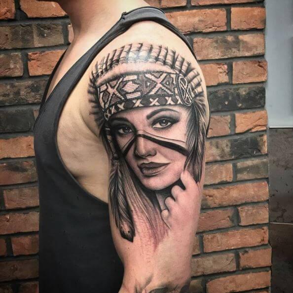 Native American Tattoos For Men
