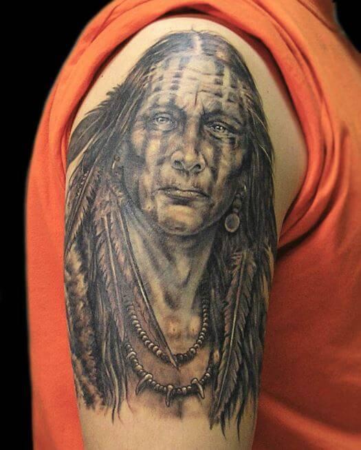 Native American Warrior Tattoo