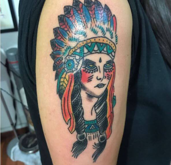 Traditional Native American Tattoo