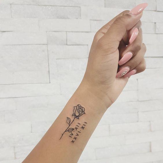 Handgelenk männer kleine tattoos Tattoo am