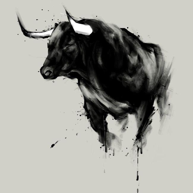 Small Simple Bull Tattoo Designs (107)