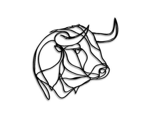 Small Simple Bull Tattoo Designs (116)