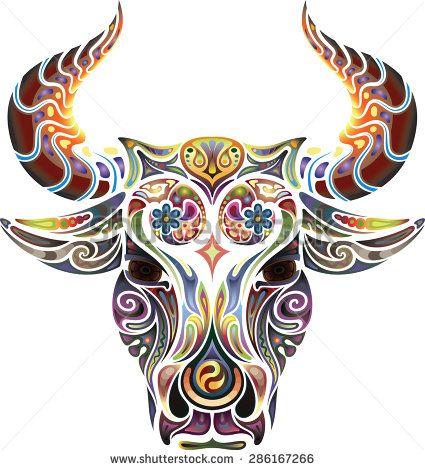 Small Simple Bull Tattoo Designs (135)
