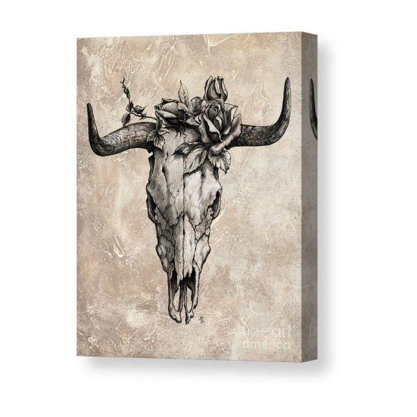 Small Simple Bull Tattoo Designs (145)